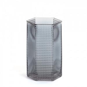 Vaza gri din sticla 20 cm Bachar Large La Forma