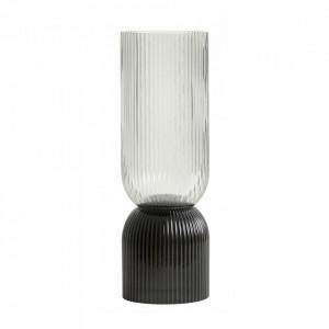 Vaza gri/neagra din sticla 36,5 cm Riva Nordal