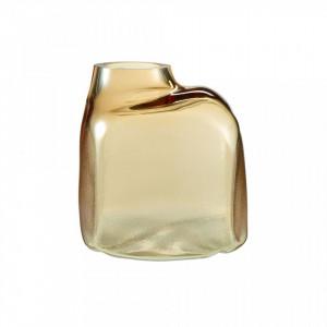 Vaza maro chihlimbar din sticla 22 cm Bronco Amber Medium Bolia