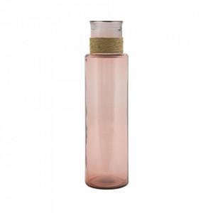 Vaza roz din sticla 55 cm Ohio Mauro Ferretti