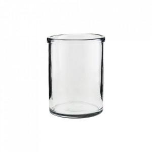 Vaza transparenta din sticla 20 cm Reem House Doctor