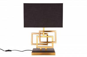 Veioza aurie/neagra din metal si textil 56 cm Leonor Invicta Interior