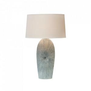Veioza bej/albastra din in si ceramica 71 cm Maritim Invicta Interior