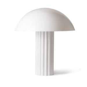 Veioza dimabila alba din plastic acrilic cu 3 becuri 61,3 cm Cupola HK Living