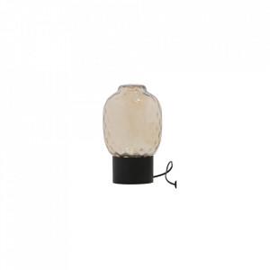 Veioza din metal negru si sticla Bubble XL Be Pure Home