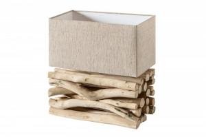 Veioza maro/bej din lemn si textil 40 cm Euphoria II Invicta Interior