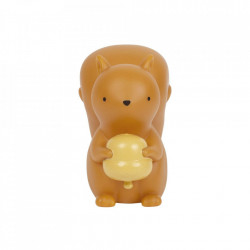Veioza maro din PVC cu LED 12 cm Squirrel A Little Lovely Company