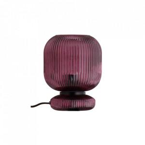 Veioza mov din sticla 25 cm Maiko Table Purple Bolia