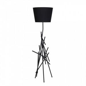 Veioza neagra din metal 72 cm Czart Black Aldex