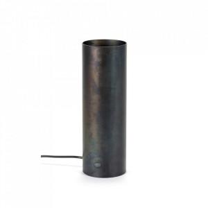Veioza neagra din otel 30 cm Sofisticato Serax
