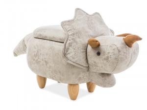 Taburet pentru copii crem din textil si lemn 54x78 cm Damian Cream Signal Meble