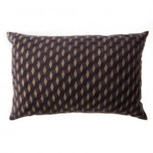 Perna decorativa patrata maro din bumbac 40x60 cm Zora Zago
