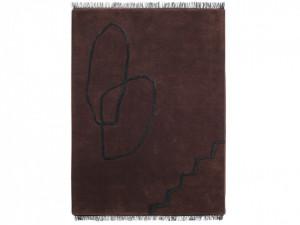 Covor dreptunghiular rosu/maro din lana 200x300 cm Desert Tufted Ferm Living