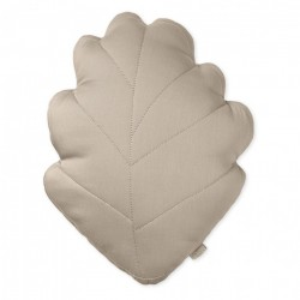 Perna decorativa maro aluna pentru copii din bumbac organic 30x38 cm Leaf Hazel Cam Cam