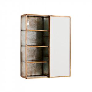Raft cu oglinda din fier si sticla 21 cm Marcia Brass Madam Stoltz