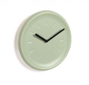 Ceas rotund verde din ceramica 26 cm Briar La Forma