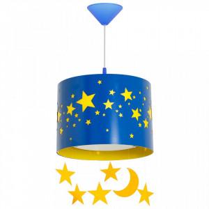 Lustra albastra din metal si plastic Stars Pendants Aldex