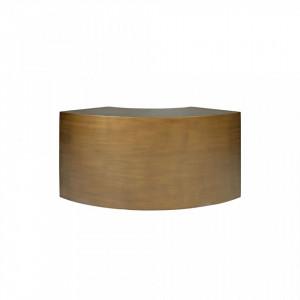 Masuta maro din otel 38x85 cm pentru cafea Slay Element Curved Bronze Versmissen