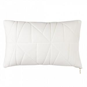 Perna decorativa drepunghiulara alba din bumbac 30x50 cm Neo White Zago