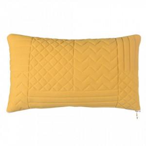 Perna decorativa drepunghiulara galben din bumbac 30x50 cm Neo Yellow Zago