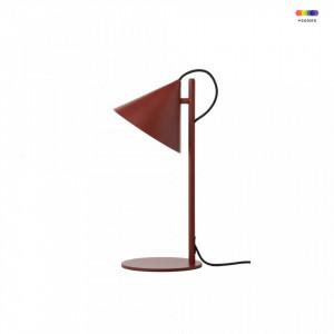 Veioza rosie din metal 47 cm Benjamin Frandsen Lighting