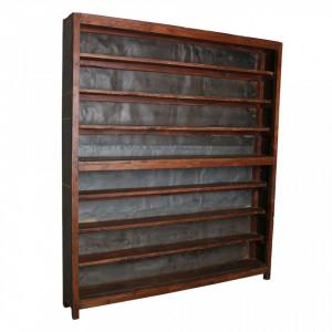 Biblioteca din lemn de tec si fier 211 cm Tratia Raw Materials