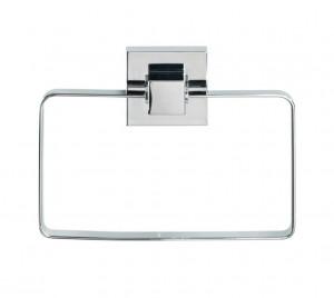 Suport argintiu din inox si plastic 14x18,5 pentru prosop Vacuum-Loc Towel Wenko