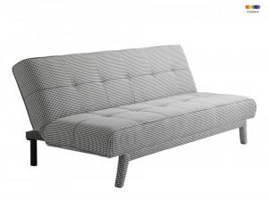 Canapea extensibila neagra din poliester si lemn pentru 2 persoane Modes Dark Pepita Custom Form