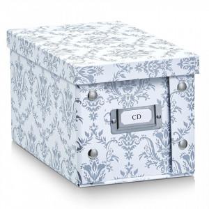Cutie alba/gri cu capac din carton CD Box Vintage White Zeller