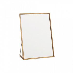 Oglinda dreptunghiulara de masa maro alama din fier 13x18 cm Sara Madam Stoltz