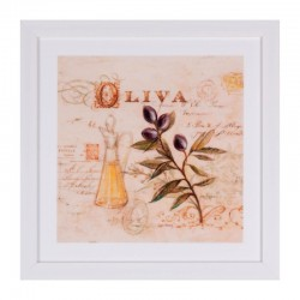 Tablou multicolor din MDF si polistiren 30x30 cm Olive Somcasa