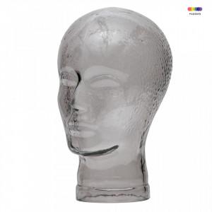 Decoratiune argintie din sticla Elvis Woood
