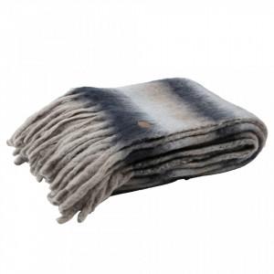 Pled multicolor din lana si fibre acrilice 130x170 cm Soft Be Pure Home