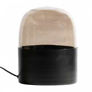 Veioza neagra din fier si sticla 30 cm Dome Be Pure Home