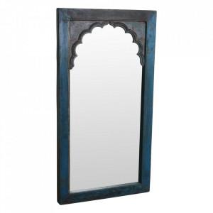 Oglinda dreptunghiulara albastra din lemn si sticla 87x165 cm Hatuka Raw Materials