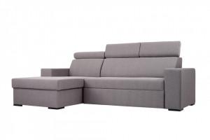 Canapea extensibila bej din poliester si lemn cu colt 250 cm Atlantica L Custom Form