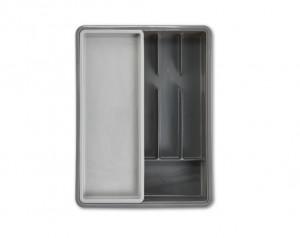 Organizator gri din plastic pentru tacamuri Cutlery Tray Grey Zeller