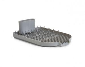 Suport argintiu/gri din metal si plastic pentru vase Kitchen Basket Zeller