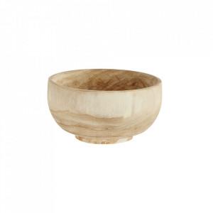 Bol maro din lemn 16 cm Paulownia Bowl Mini Madam Stoltz