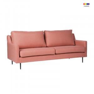 Canapea roz din lemn de pin si poliester pentru 2 persoane London Pink Somcasa