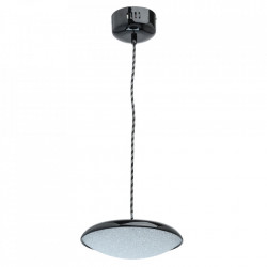 Lustra neagra din metal si plastic cu LED Omega MW Glasberg
