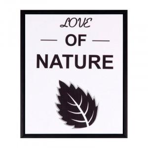 Tablou alb/negru din MDF si polistiren 25x30 cm Nature Somcasa