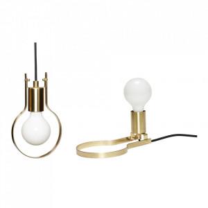 Lustra maro alama din metal Brass Table Lamp Hubsch