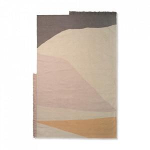 Covor multicolor din lana si bumbac 160x250 cm Kelim Earth Ferm Living