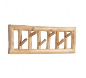 Cuier maro din lemn de tec Athina La Forma