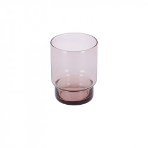 Pahar roz din sticla 8,5x10,5 cm Yida La Forma