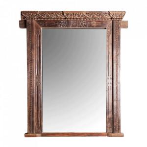 Oglinda dreptunghiulara maro din lemn 146x215 cm Owens Vical Home