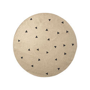 Covor rotund din iuta 130 cm Black Triangles Ferm Living