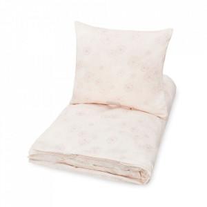Lenjerie pat roz din bumbac 100x130/40x55 cm Dandelion Cam Cam