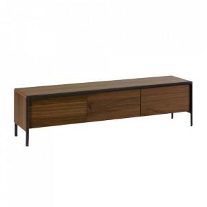 Comoda TV maro din lemn de nuc 180 cm Nadyria La Forma